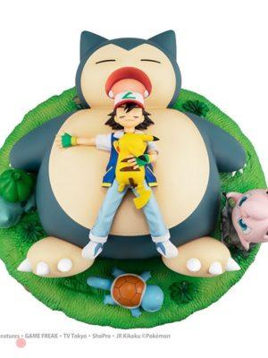 Figura G.E.M. GEM Pokemon Ash Nap with Snorlax Tienda Figuras Anime Chile Santiago