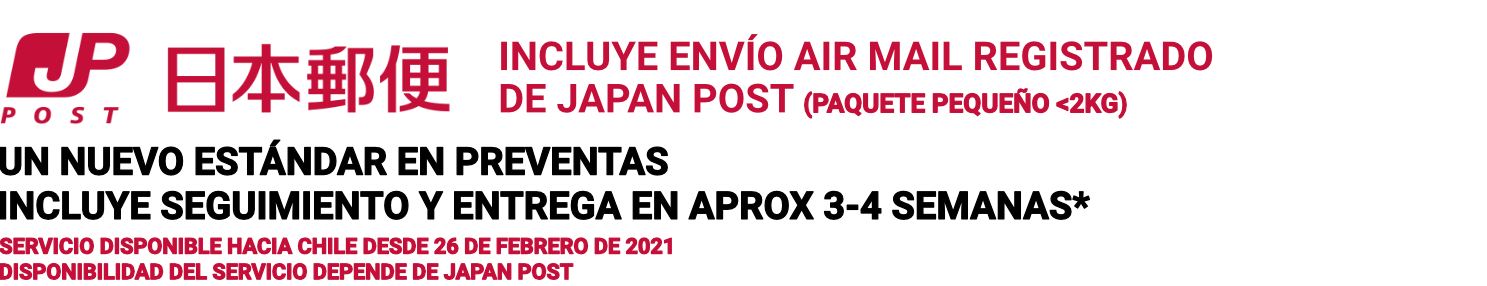 Air Mail Chile Japan Post Tienda Figuras Anime