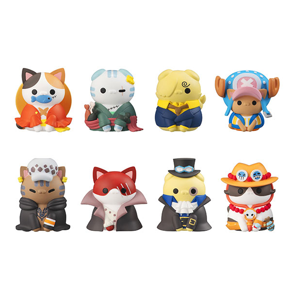 Figura MEGA CAT PROJECT ONE PIECE Nyan Piece Meow! I'll Become the Pirate King, Meow! 8Pack BOX Tienda Figuras Anime Chile Santiago