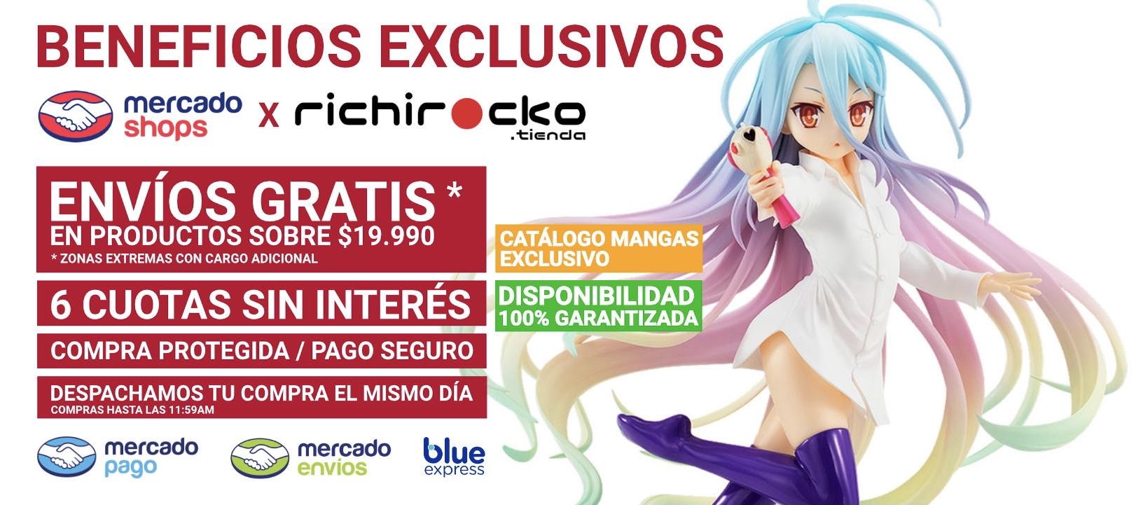 Tienda Anime MercadoShops Cuotas Sin Interés richirocko Figuras Manga Chile Santiago